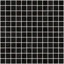 1 Inch Matte Black Glass Tile