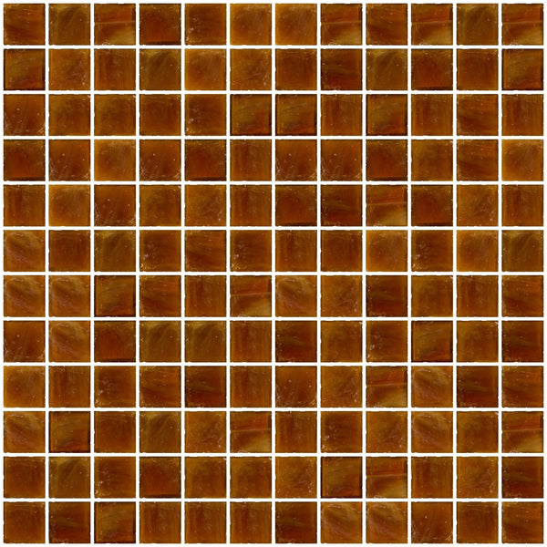 1 Inch Opaque Deep Brown Glass Tile