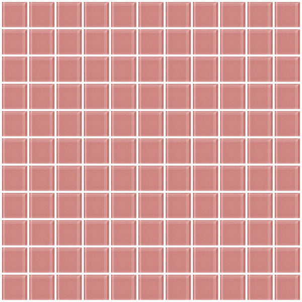 1 Inch Pink Glass Tile