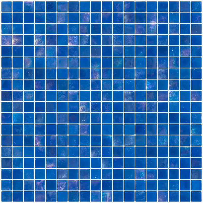 5/8 Inch Periwinkle Blue Iridescent Glass Tile