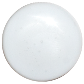 1 Inch Round White Semi-Transparent Fused Glass Accent Tile