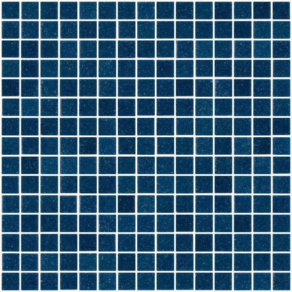 3/4 Inch Blue Green Chambray Glass Tile