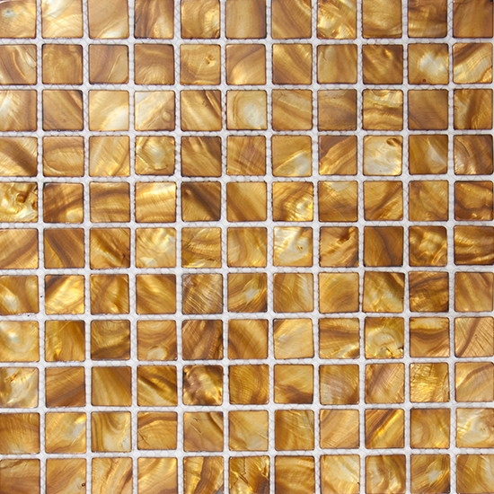 1 Inch Golden Brown Shell Tile