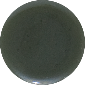2 Inch Round Smoke Semi-Transparent Fused Glass Accent Tile