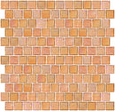 1 Inch Peach Pink Iridescent Glass Tile Reset In Offset Layout