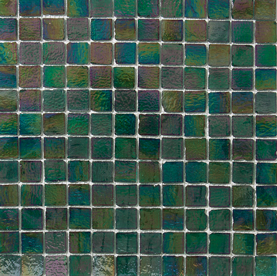 1 Inch Emerald Green Iridescent Tile