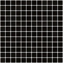 1 Inch Black Recycled Glass Tile
