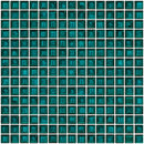 3/4 Inch Transparent Emerald Teal Green Glass Tile