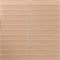Sheet of 1x6 Inch Subway Mushroom Brown Frosted Glass Tile
