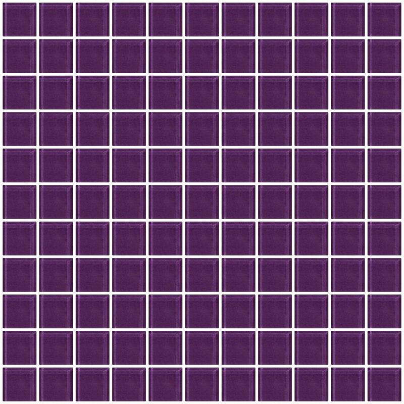 1 Inch Lavender Purple Glass Tile
