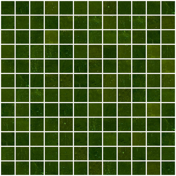 1 Inch Summer Green Mirror Glass Tile