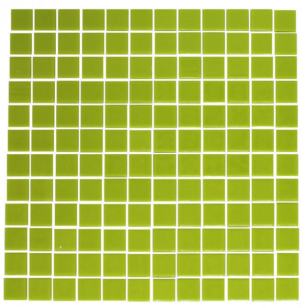 Lime Green Recycled Glass Tile