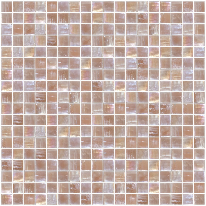 5/8 Inch Mushroom Brown Iridescent Glass Tile