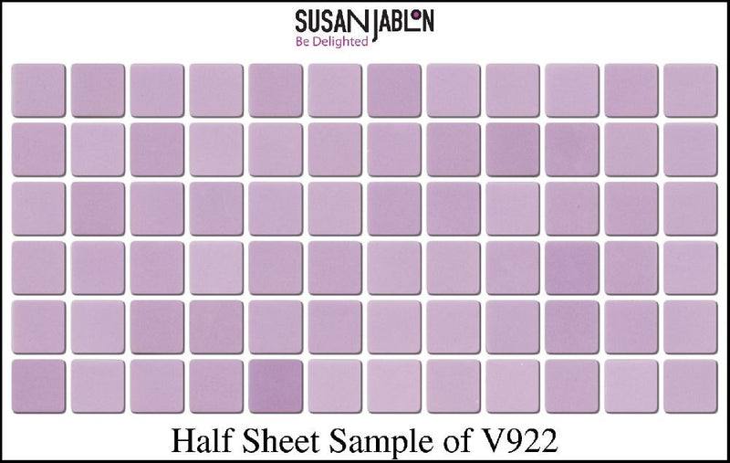 Half Sheet Sample of V922