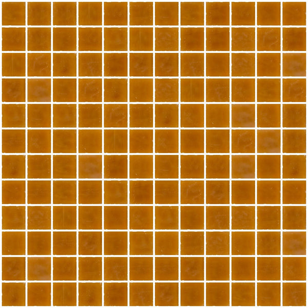 1 Inch Opaque Butterscotch Brown Glass Tile
