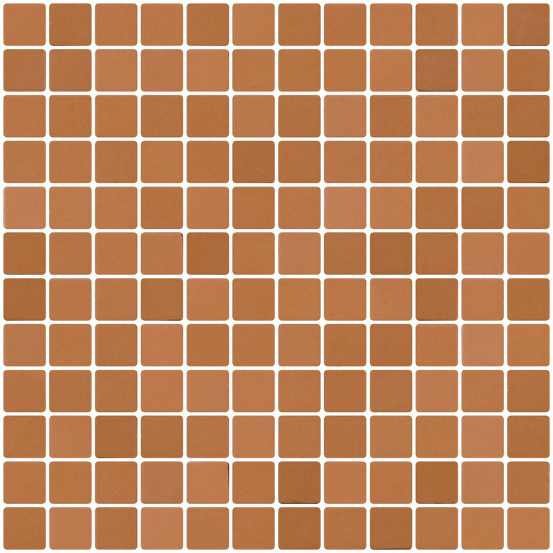 1 Inch Camel Brown Recycled Glass Tile