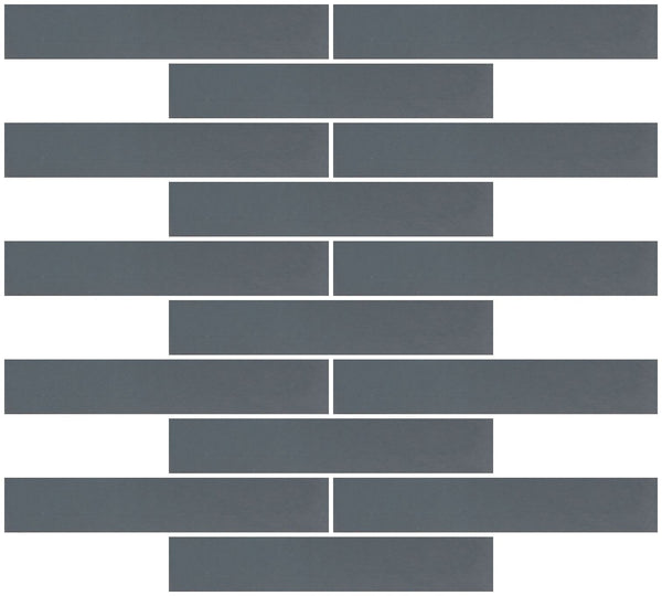 1x6 Inch Dark Gray Mirror Glass Subway Tile