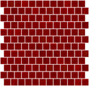 1 Inch Opaque Red Glass Tile Reset In Offset Layout