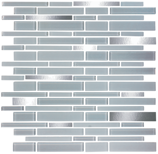 Gray and Handcut Mirror Glass Tile