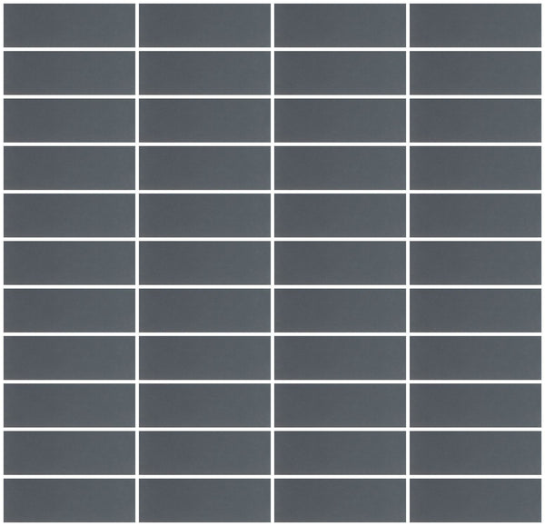 1x3 Inch Dark Gray Mirror Glass Subway Tile