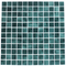 1 Inch Deep Sea Green on White Recycled Glass Tile