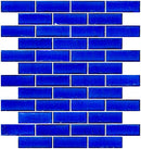 1x3 Inch Cobalt Blue Transparent Glass Subway Tile