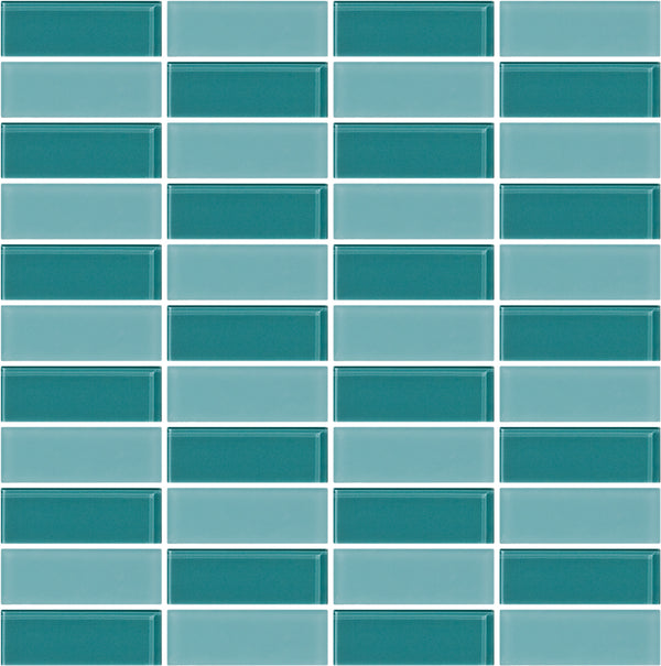 Tuxedo Light Teal Mosaic Tile Design