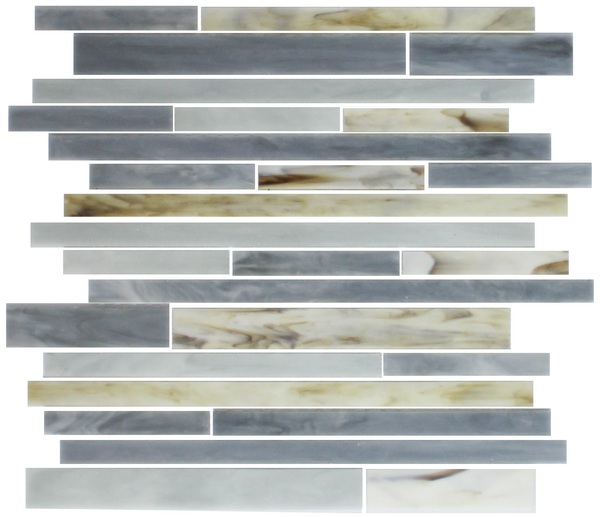 Oyster Grey STIX Linear Stained Glass Tile