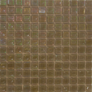 1 Inch Iridescent Gray Green Glass Tile