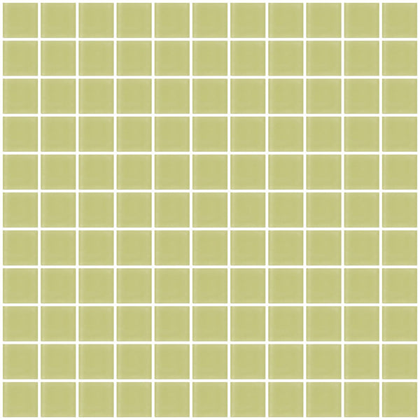 1 Inch Celery Green Frosted Glass Tile