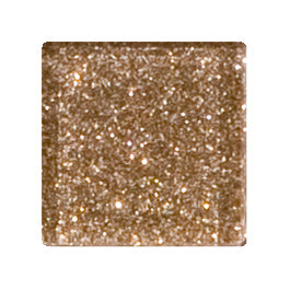 Sample of 1 Inch Taupe Gold Glitter Glass Tile Offset