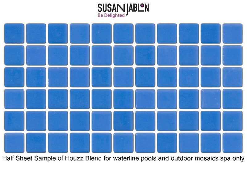 Half Sheet Sample of Houzz Blend for waterline pools and outdoor mosaics spa only
