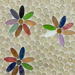 Wild Flowers Mosaic Tile Design