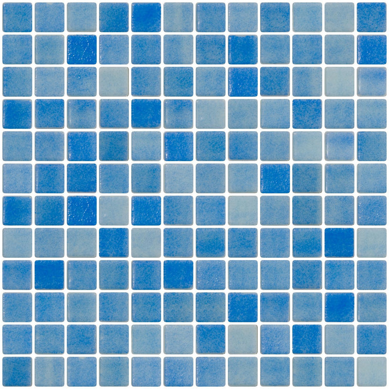1 Inch Medium Cobalt Blue Recycled Glass Tile