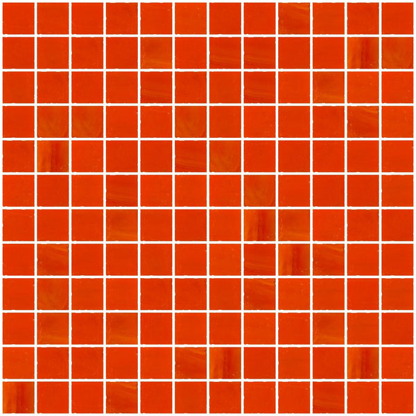 1 Inch Opaque Bright Orange Glass Tile
