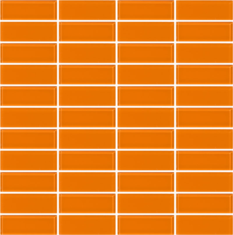 Tuxedo Orange Mosaic Tile Design