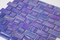 Blue Violet Iridescent Recycled Glass Tile