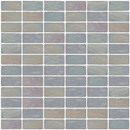 1x2 Inch Icy White Iridescent Glass Subway Tile Stacked Layout