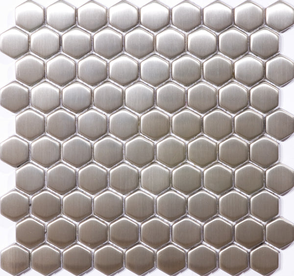 8mm 1 1/4 Inch Hexagon Stainless Steel Tile