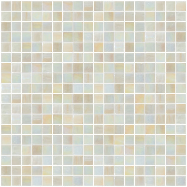 5/8 Oyster Pearl Iridescent Glass Tile