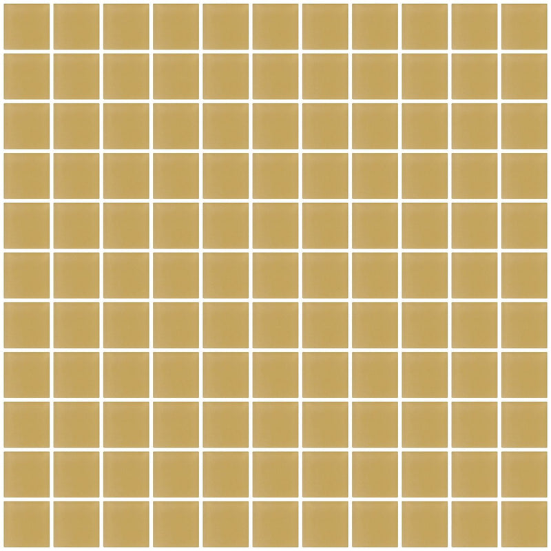 1 Inch Honey Brown Frosted Glass Tile
