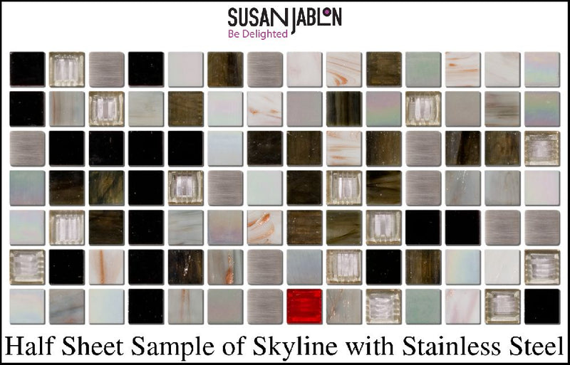 Half Sheet Sample of Skyline with Stainless Steel