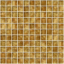 1 Inch Patina Bronze Metallic Glass Tile