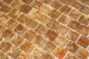 1 Inch Patina Bronze Metallic Glass Tile Reset In Offset Layout