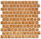 1 Inch Fire Bronze Metallic Glass Tile Reset In Offset Layout