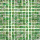 3/4 Inch Green Marbled Glass Tile