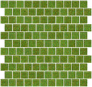 1 Inch Lime Green Glitter Glass Tile Offset