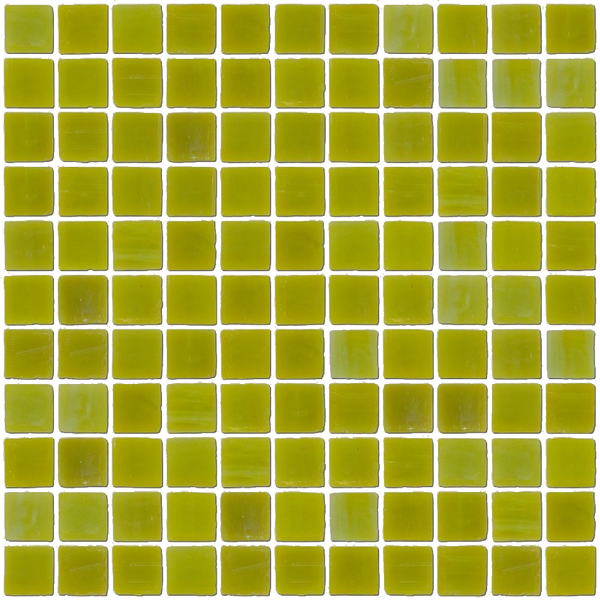 1 Inch Chartreuse Opaque Glass Tile