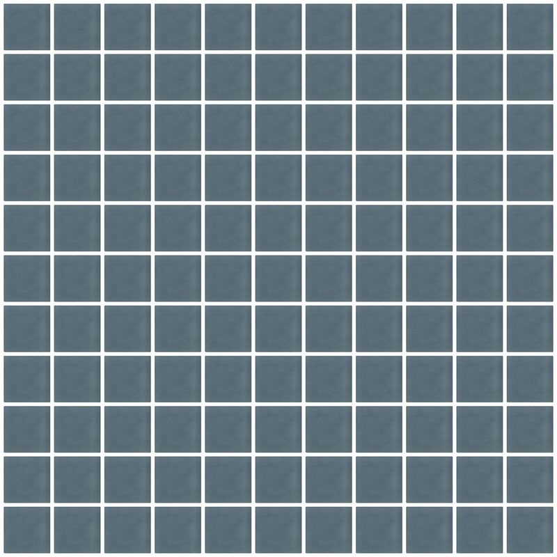 1 Inch Medium Gray Frosted Glass Tile