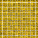 3/4 Inch Transparent Yellow Glass Tile